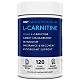 RSP L-Carnitine 500 mg - Stimulant Free L Carnitine, Weight Loss Supplement & Fat Burner for Men & Women, Amino Acid Workout Diet Pills, 120 Capsules