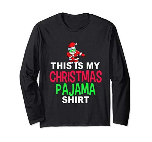 Santa Floss Dance Pajama Shirt | Dancing Santa PJ Long Sleeve T-Shirt