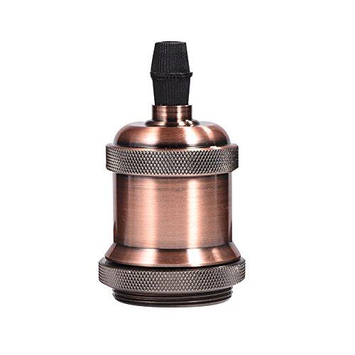 E27 Vintage Portalampada, Edison retro lampada a sospensione, Adattatore in ceramica solida, ottone vintage socket