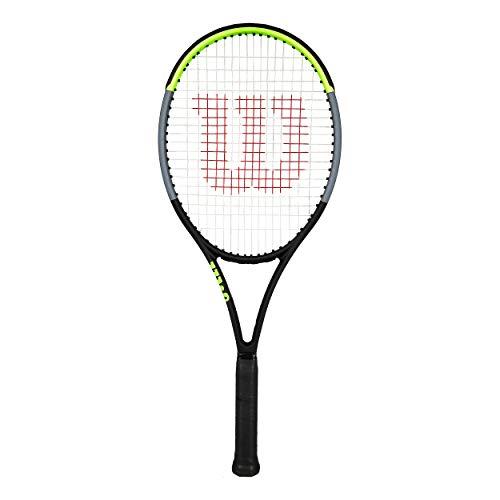 Wilson Raqueta de tenis, Blade 100UL V7.0, Unisex, Adulto, Empuñadura 4 1/8'', Grafito, Verde/gris/verde lima, WR014110U1