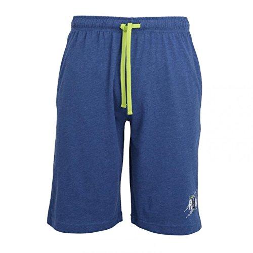 Ceceba Herren Schlafanzughose Bermuda - 1er Pack, Größe:48, Farbe:Blue Medium Melange (621)
