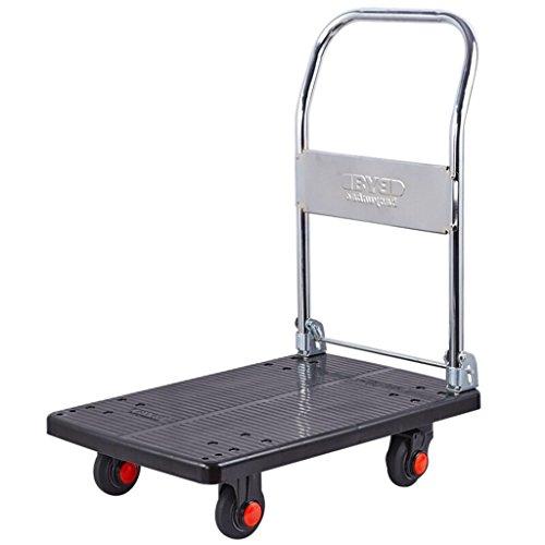 DEE Multifunktions-Einkaufswagen Ultraleichte Pritschen- / Klappwagen- / Werkzeugwagen- / Kunststoff-Transporter- / Vier-Runden-Laufkatzen- / 200-kg-Lastkarren