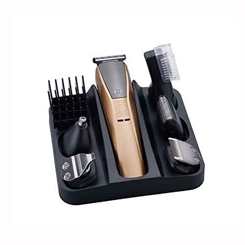 WSXMLA Cheveux Clippers 6-in-1 Tondeuse for Homme, Barbe Rasoir Coupe de Cheveux Tondeuse électrique Rasoir Styling Outils Cord-sans Fil, Batterie Rec