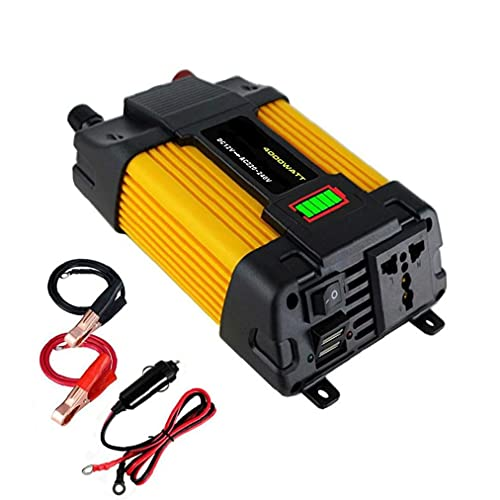 POWER-omvormer 500W auto DC 12V tot 220 V AC-omzetter met dubbele USB-autoladeradapter LED DisplayUSB Auto Charger…