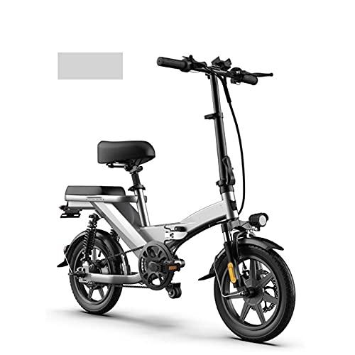 NYPB Bicicleta Eléctrica Plegable para Mujer, 14? Mini E-Bike Marco Engrosado Motor...