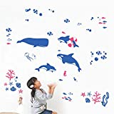 Shang1 Mural Stickers Enfant Stickers Muraux Sticker Mural Amovible Sticker Mural Fond D'Écran Chambre Enfant Maternelle