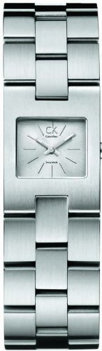 Calvin Klein K0213138 - Reloj analógico de Cuarzo para Mujer con Correa de Acero Inoxidable, Color Plateado