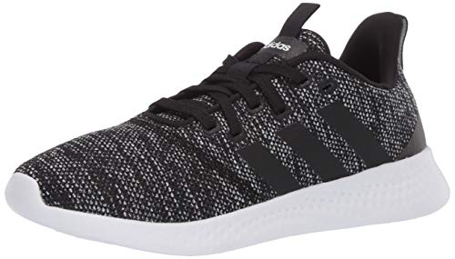 adidas Women's Puremotion Running Shoe, Mesh Black/Black/White, 9