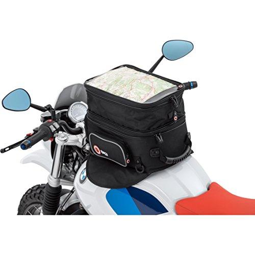 QBag Tankrucksack Motorrad Magnet Tanktasche Motorrad Tankrucksack 01 Magnet / Riemen, haftstarke Magnete, Riemenbefestigung, 3 Außentaschen, großes getrenntes Hauptfach, formstabil, Tragegriff, Schwarz, 20 – 27 Liter