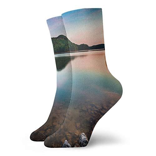 Calcetines de compresión para mujer y hombre, Allatoona en Red Top Mountain North Calcetines ideales para circulación, médicos, correr