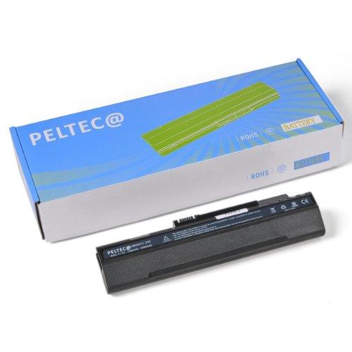 PELTEC@ - Batería de repuesto para portátil Acer Aspire One A150 A150L A150X D150 ZG-5 ZG5 (equivalente a baterías UM08A31 UM08A71 UM08A72 UM08A73 UM08A74 UM08B71 UM08B72 UM08B73 UM08B74 LC.BTP00.017 LC.BTP00.018 934T2780F, 4400 mAh), color negro