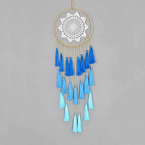 XIEJING Woven Tassel Wall Hanging,-Inspired Handmade Tapestry Touch Window Curtain Children's Room Living Room Art Decor-A W20xH65cm Bohemian Wall Decoration (Color : B, Size : W20xH65cm)