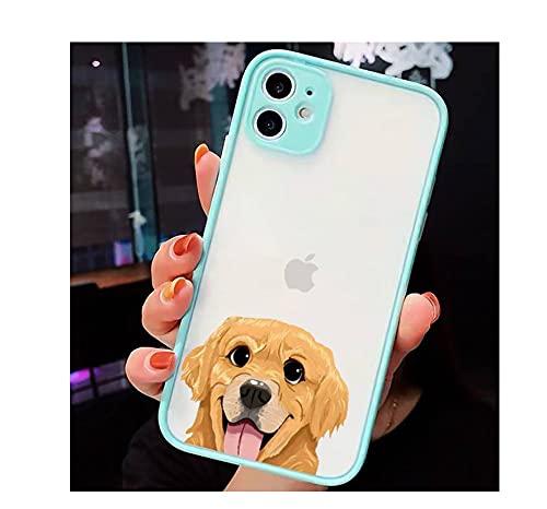 Cartoon Pug Dog French Bulldog animal Fundas para teléfono mate transparente para iPhone 7 8 11 12 s mini pro X XS XR MAX Plus cover-a8-iPhone12pormax
