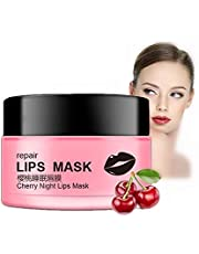 Lip Mask Natural Cherry Extract Sleeping Lip Care Moisturizing, Peeling, Nourishing Anti-Aging for Rich and Soft Lips