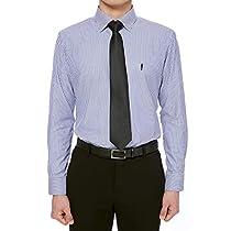 [YEZAC] ソフト光沢のビジネスドレスシャツ,スリムフィット,Dress...