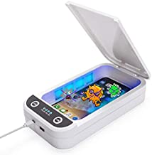 Phone Uv Sanitizer, Portable UV Light Cell Phone Sterilizer, Aromatherapy Function Disinfector, Cell Phone Cleaners UV Light Sanitzier Box for iOS Android Smartphones Jewelry Watch