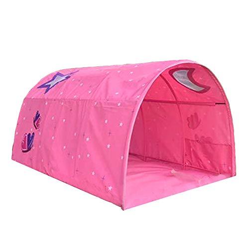 Hi Suyi Kinder-Hochbett-Tunnelzelt für 90-100 cm breite Hochbett-Etagenzelt, Stoff, Blau, Einzelbett rose