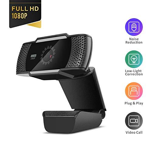 Baytion Caméras Web pour ordinateurs, Webcam USB 1080P Avec Microphone pour PC/ordinateur Portable/ordinateur de Bureau/Appel vidéo/conférence, etc. [Full HD 1080P] [Microphone intégré]