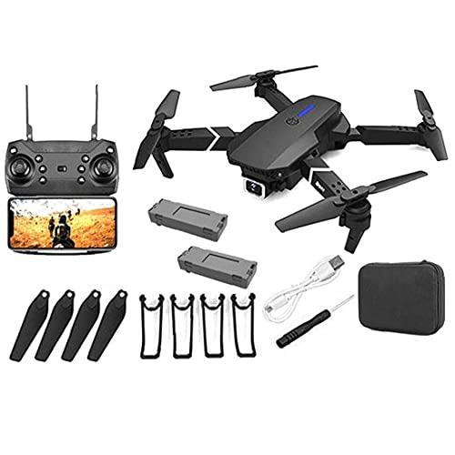 JJDSN Drone GPS E88 Drone GPS Pieghevole con Fotocamera 4K per Adulti, quadricottero con Motore brushless, Borsa per Il Trasporto, Lungo Raggio di Controllo, Drone Video in Diretta RC Quadcopter a