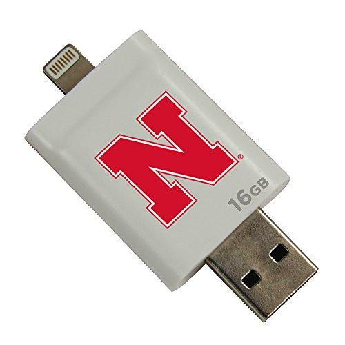 Nebraska Cornhuskers i-FlashDrive HD USB Drive 16GB - White