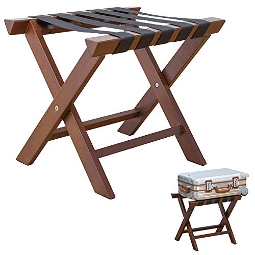 バゲージラック バッゲージラック 木製 折畳み 完成品 ホテル カバン かばん 鞄 置き 荷物置台 持ち運び簡単 ダークブラウン