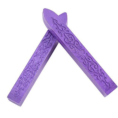 Jeanoko Cera de Sellado Palo de Cera de Sellado Decoración de Fiesta Invitación Palo de Cera de Sellado Invitaciones de Boda Manuscrito(Purple)