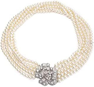 Audrey Hepburn Breakfast at Tiffany's Pearl Necklace Five Strand Flapper Costume Jewelry