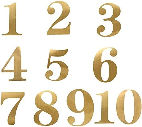 Gold number sticker