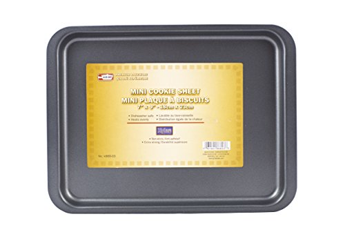 Symak K866-03 7' x 9' Mini Cookie Sheet Non-Stick Small Toaster Oven Pan Bakeware Replacement, White