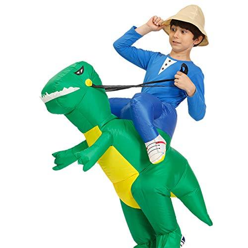 ANWXY Disfraz Inflable Disfraz Fiesta Navidad Halloween para Adultos/Niños,Dinosaurio Ambulante Cosplay Carry...