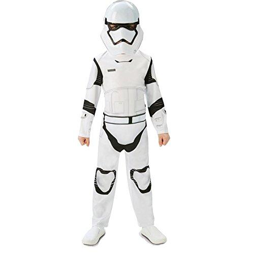 Rubie's 3620267 - EP7 Stormtrooper classic child, L, weiß/schwarz (7-8 Jahre)