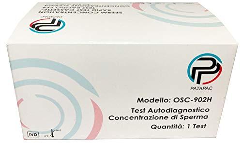 Test Fertilità Maschile Sperm Test per conteggio Spermatozoi per Uomo Kit diagnosi Sperma Rapido MIsura livello di concentrazione in modo sicuro e preciso