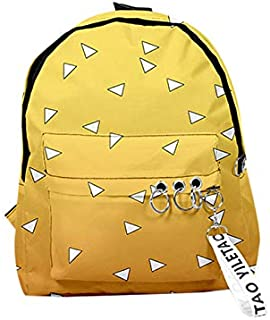 Cosplaysky Demon Slayer Anime Backpack Kimetsu no Yaiba Cosplay BookBag Shoulders Bag for Students