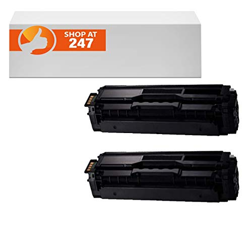 Shop 247 Compatible Toner Cartridge Replacement for 2 Packs Combo CLT-C504Sk Black toner cartridges replacement for Samsung Xpress SL-C1860FW,SL-C1810W,CLX-4195FN, CLX-4195FW, CLP-415NW