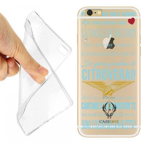 Custodia Cover Case Coro Ultras Lazio per iPhone 6 Trasparente