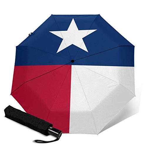 Texas Flag 24 Reiseschirme für Damen, Sonnenschirme für Damen, Kompaktschirme für Regen und Einhandbedienung