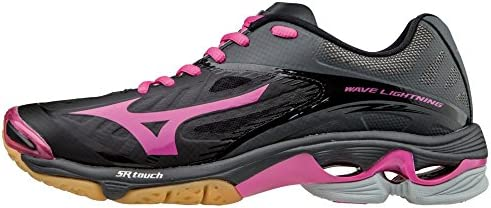 Mizuno Women s Wave Lightning Z2 Volleyball Shoes Black Pink Womens Size 11 5 product image