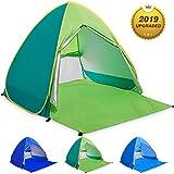 WloveTravel Tente de Plage Bebe Tentes Portable Extérieur pour 2-3 Personnes, Tente Anti UV pour Plage (Vert)