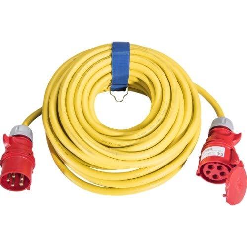 SIROX® CEE-Verlängerung, 32 A, H07RN-F Leitungsfarbe schwarz, Querschnitt 5 x 6,0 mm², Länge 10 m, Phasenwender nein