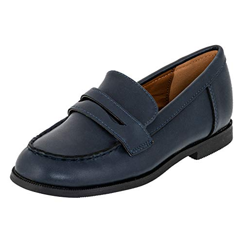 Festliche Kinder Jungen Anzug Schuhe Slipper Halbschuhe M549dbl Dunkel Blau EU 23