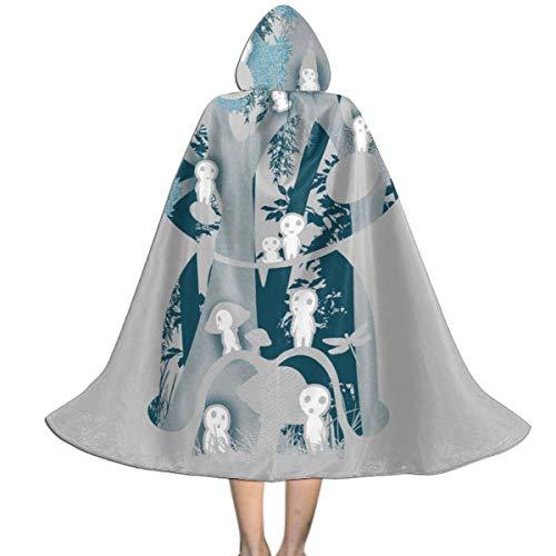 NUJSHF Kodama Forrest Prinzessin Mononoke Studio Ghibli Unisex Kinder Kapuzenumhang Halloween Weihnachten Party Dekoration Rolle Cosplay Kostüme Outwear