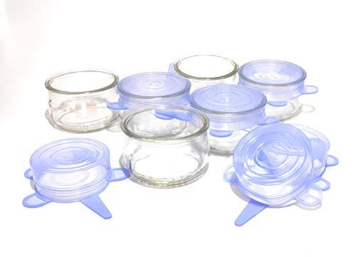 GET-GREEN Vasos de Yogur con Tapa de Silicona hermética. 6 Uds de...