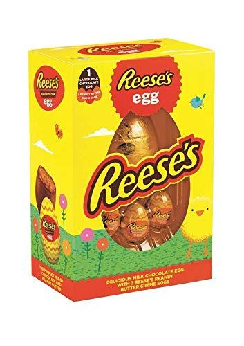 Reese's Easter Egg 232g - Großes Milchschokoladenei mit drei Reese's Erdnussbutter-Creme-Eiern