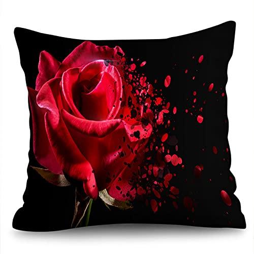 KLily Funda De Almohada Decorativa De Amor Rosa para El Hogar, Dormitorio, Sofá, Cojín, Funda De Almohada, Funda De Almohada para Yoga, Cojín para La Siesta