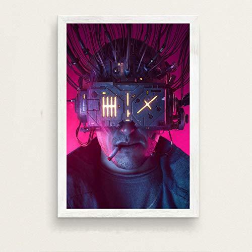 zhuifengshaonian Carteles de Pintura en Lienzo de neuromante de película de William Gibson e Impresiones Cuadros de Pared para la decoración del hogar de la película(Zt-2301) Sin Marco Poster 40x50cm