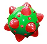 Petlou Ancol Christmas Flashing Throw and Fetch Fun Interactive Knobbly Ball Dog Toy