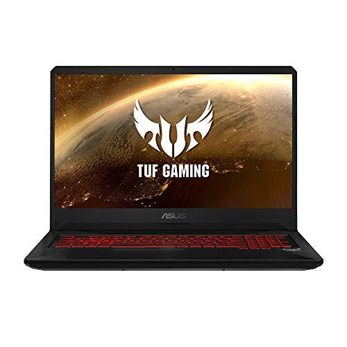 "ASUS TUF Gaming FX705GD-EW106 - Portátil Gaming de 17.3"" FullHD (Intel Core i7-8750H, 16GB RAM, 1TB HDD + 256GB SSD, NVIDIA GeForce GTX1050 4GB, Sin sistema operativo) Negro - Teclado QWERTY Español"