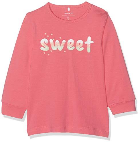 Name It Nbfdalia Ls Top T-Shirt À Manches Longues, Camellia Rose, 58 (Taille Fabricant: 56) Bébé Fille