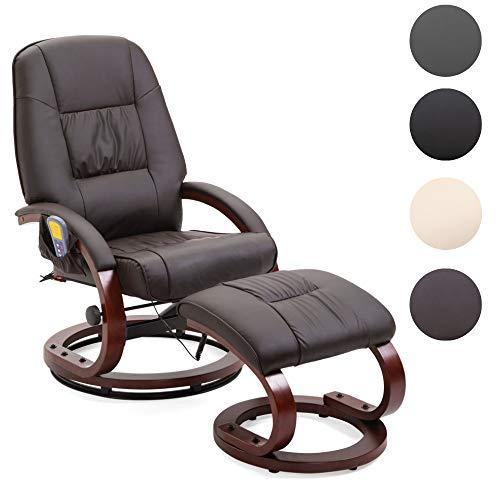 Mingone Massagesessel 8 Schwingmassagepunkte Relaxsessel Fernsehsessel mit Heizfunktion (Braun)
