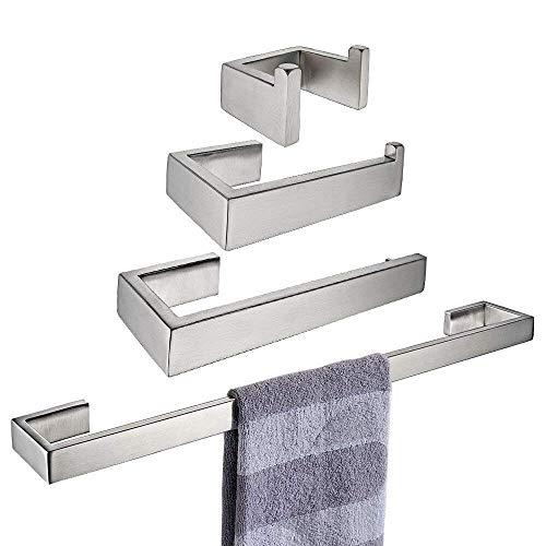 Accesorios de baño montados en la pared Cepillo Acabado Toalla Bar Toalla Gancho Anillo Toalla Tenedor de papel higiénico UniGiraffe